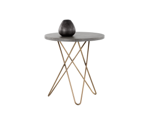 Concrete & gold hairpin base table