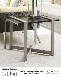 Del Mar Rectangular End Table